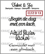 Crealies Clearstamp Tekst&Zo Divers 13 (NL) CLTZD13