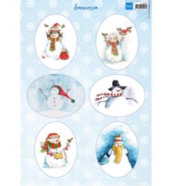 Marianne D Knipvel VK9568 - Snowmen ovals