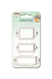 ScrapBerry's Set Of Metal Frames Kids'Fun 3pcs White