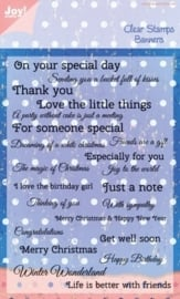 Clear stamps - Banner text