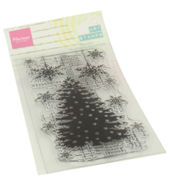 Marianne D - MM1634 - Art stamps - Christmas Tree