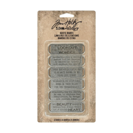 Idea-ology • Tim Holtz quote bands 6pk