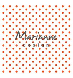 Marianne D Embossing 3D Design Folder DF3447 - Polka Dots