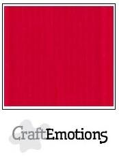 CraftEmotions linnenkarton vuurrood 30,5x30,5cm