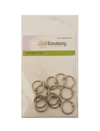 CraftEmotions Klik ringen / boekbindersringen 19mm 12 st.
