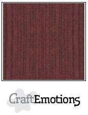 CraftEmotions linnenkarton mahoniebruin 27x13,5cm 250gr