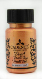 Cadence Dora metallic verf Briljant goud 01 011 0121 0050 50 ml