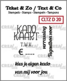 Crealies Clearstamp Tekst & Zo kadokaart tekst (NL) CLTZD20 29mm