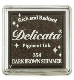 DELICATA Small Dark Brown Shimmer