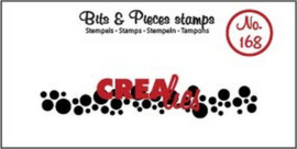 Crealies Clearstamp Bits & Pieces cirkels (langwerpig) CLBP168 11 x 73mm