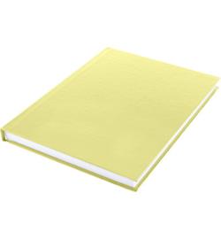 15580 - Dummyboek, blanco hard cover, geel pastel