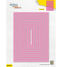 Nellie`s Choice - MFD150 - Double stitchlines: Rectangle