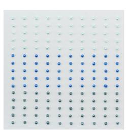 Nellie`s Choice - APS203 - Adhesive half pearls 3 tinten blauw