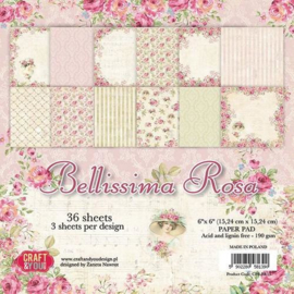 Craft&You Bellissima Rosa Small Paper Pad 6x6 36 vel