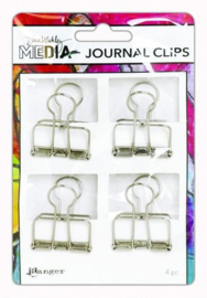 Ranger Media Journal Clips Large - 4 Pak MDA60307 Dina Wakley