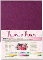 LeCrea - 10 Flower Foam sheets A4 bordeaux 25.4247 0.8mm