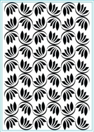 Embossing folder Dancing leaves