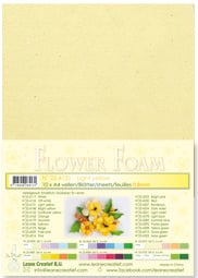 LeCrea - 10 Flower Foam sheets A4 0.8 mm lichtgeel 25.4131 0.8mm