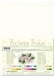 LeCrea - 10 Flower Foam sheets A4 gebroken wit 25.4124 0.8mm