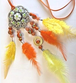 Dream Catcher - Yellow/Orange