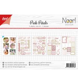 Noor!Design - 6011/0412 - Labelvellen/knipvel - Pink Petals