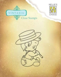 Nellies Choice Clearstempel - Vintasia Lovely Harmony VINS003