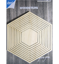 Joy! Crafts - 6320/0012 - Deco-schudkaart hexagon