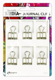 Ranger Media Journal Clips Small - 6 Pak MDA60291 Dina Wakley