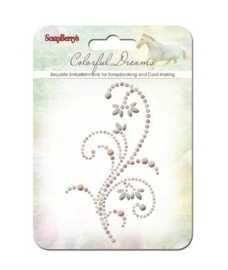 ScrapBerry's Curls Colorful Dreams 3 Pearl Swirl (SCB250001073)