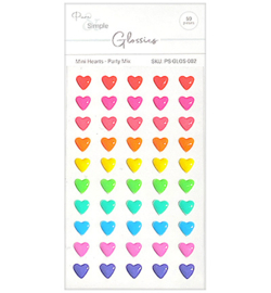 Pure & Simple - PS-GLOS-002 - Mini Hearts, Party Mix