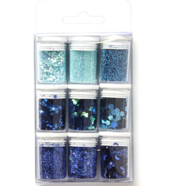 Glitter Set - Blue, assorted
