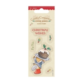 50 x 100mm Clear Stamps - Winter Wishes - Christmas Cake