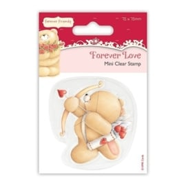 75 x 75mm Clear Stamp - Forever Love - Cupid