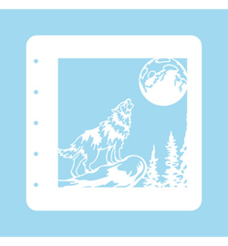 Nellie`s Choice - COLST008 - Stencil Christmas Time -Wolf