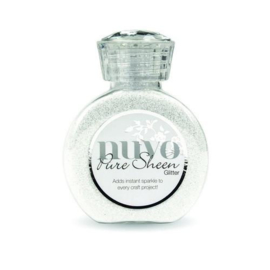 Nuvo Pure sheen glitter - ice white 721N
