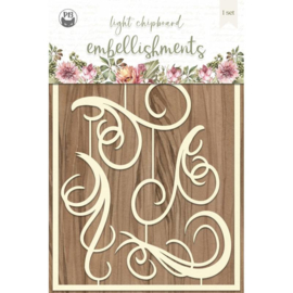 Piatek13 - Chipboard embellishments Forest tea party 01 P13-FOR-43