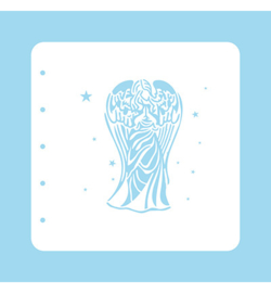 Nellie`s Choice - COLST003 - Stencil Christmas Time -Angel-