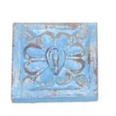 WD Carved Hook 12x12x1,5 - blauw (kapstok / wandhaak)