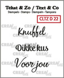 Crealies Clearstamp Tekst&Zo 3x Divers 22 (NL) CLTZD22 max. 30 mm