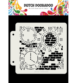 Dutch Doobadoo - 470.715.154 - DDBD Dutch Mask Grunge Clock