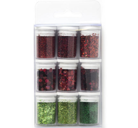 Glitter Set - Christmas, assorted