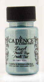 Cadence Dora metallic verf Blauw groen 01 011 0201 0050 50 ml
