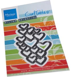 Marianne D Craftable CR1555 - Art texture - Hearts