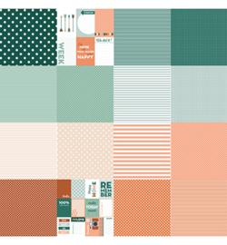Noor! Design - 6011/0574 - Designpapier - Noor - Dots&Stripes