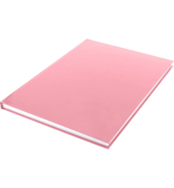 15581 - Dummyboek, blanco hard cover, rood pastel