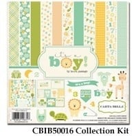 Carta Bella It's a Boy 12x12 Inch Collection Kit (CBIB50016)