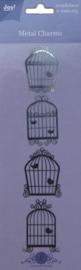 Metal charms - Vogelhuisjes