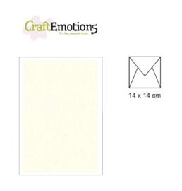 Envelop vierkant ivoor - 14X14CM (per stuk)