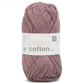 Rico Design - Creative Cotton Aran 12 Smokey Berry