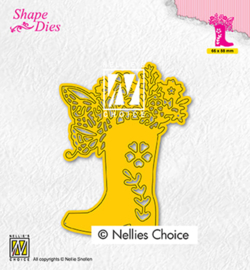 Nellie`s Choice - SD198 - Boot with flowers